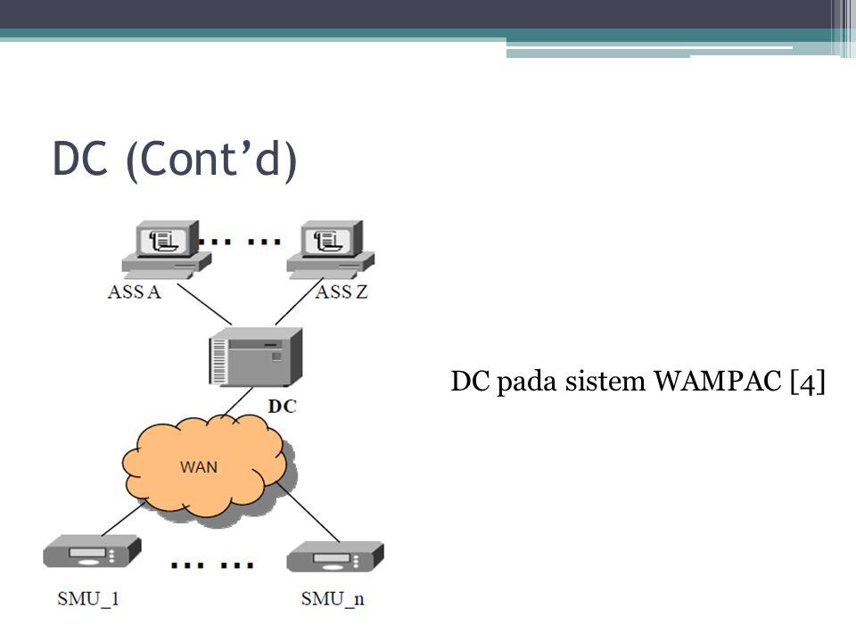 DC (Cont'd) DC pada sistem WAMPAC [4]